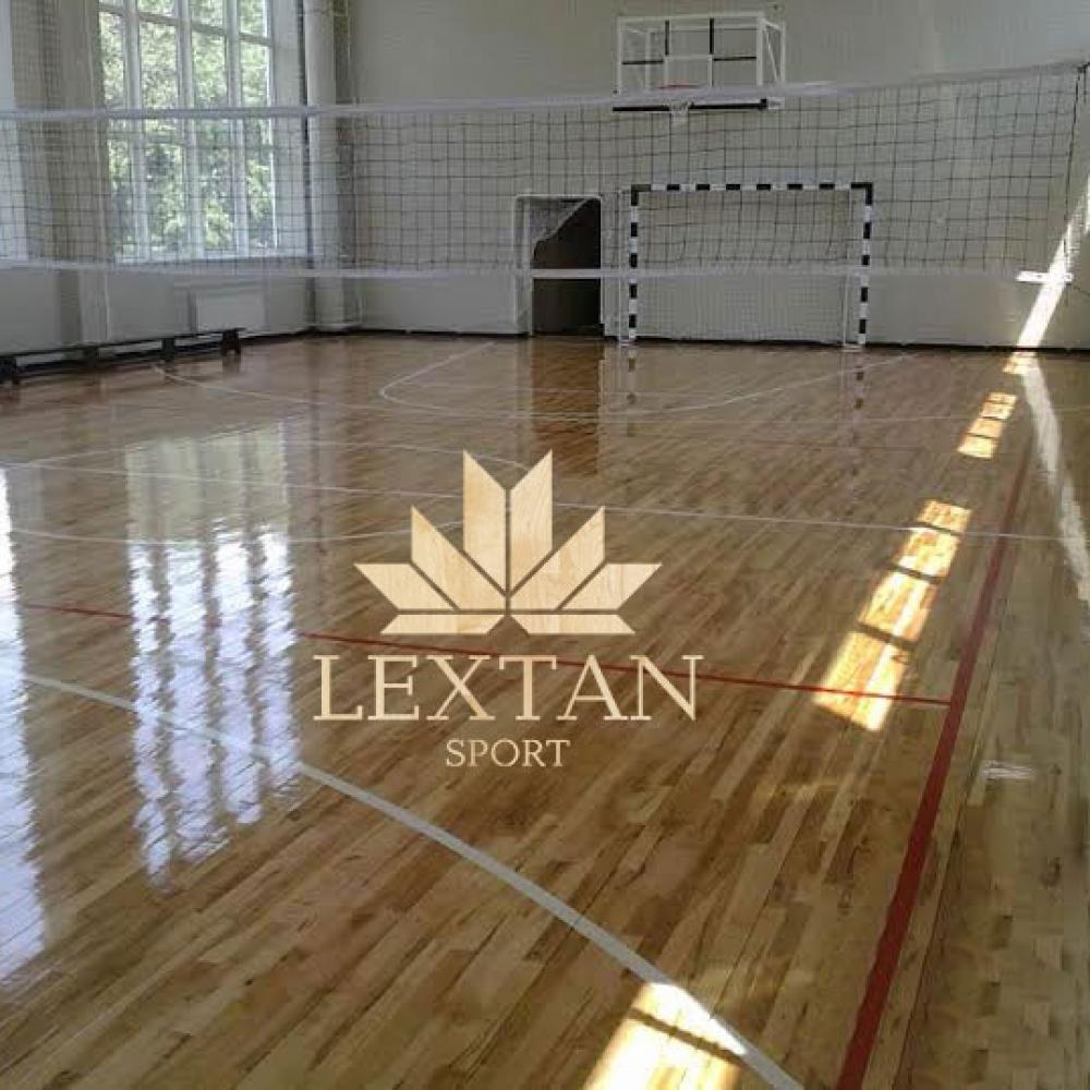 LEXTAN - производство, поставка и укладка спортивного паркета из канадского клена. Спортзал СБУ, г. Днепропетровск