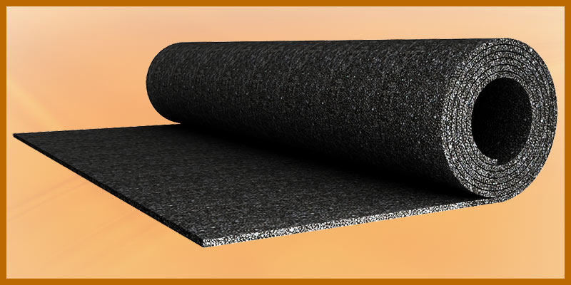Rolled rubber underlayment